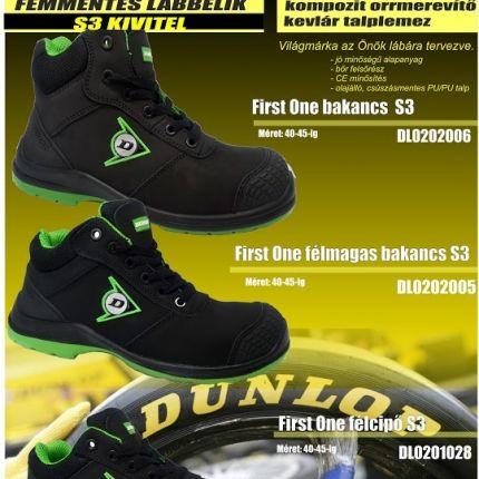 d901458ee0b5 Dunlop fémmentes munkavédelmi félcipők